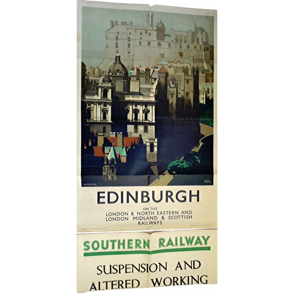RAILWAY POSTER - Edinburgh (for the LNER... Image