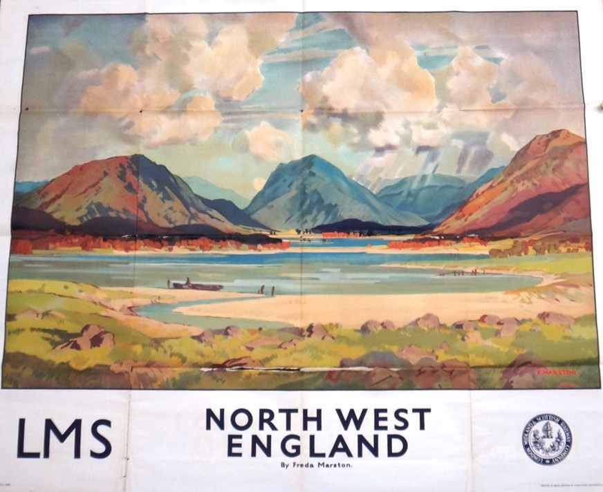 RAILWAY POSTER - LMS. Company; North... Image