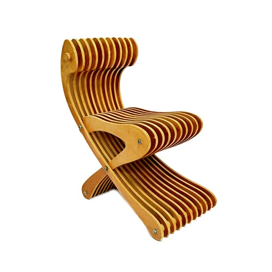 A 20th century laminated plywood chair... Image