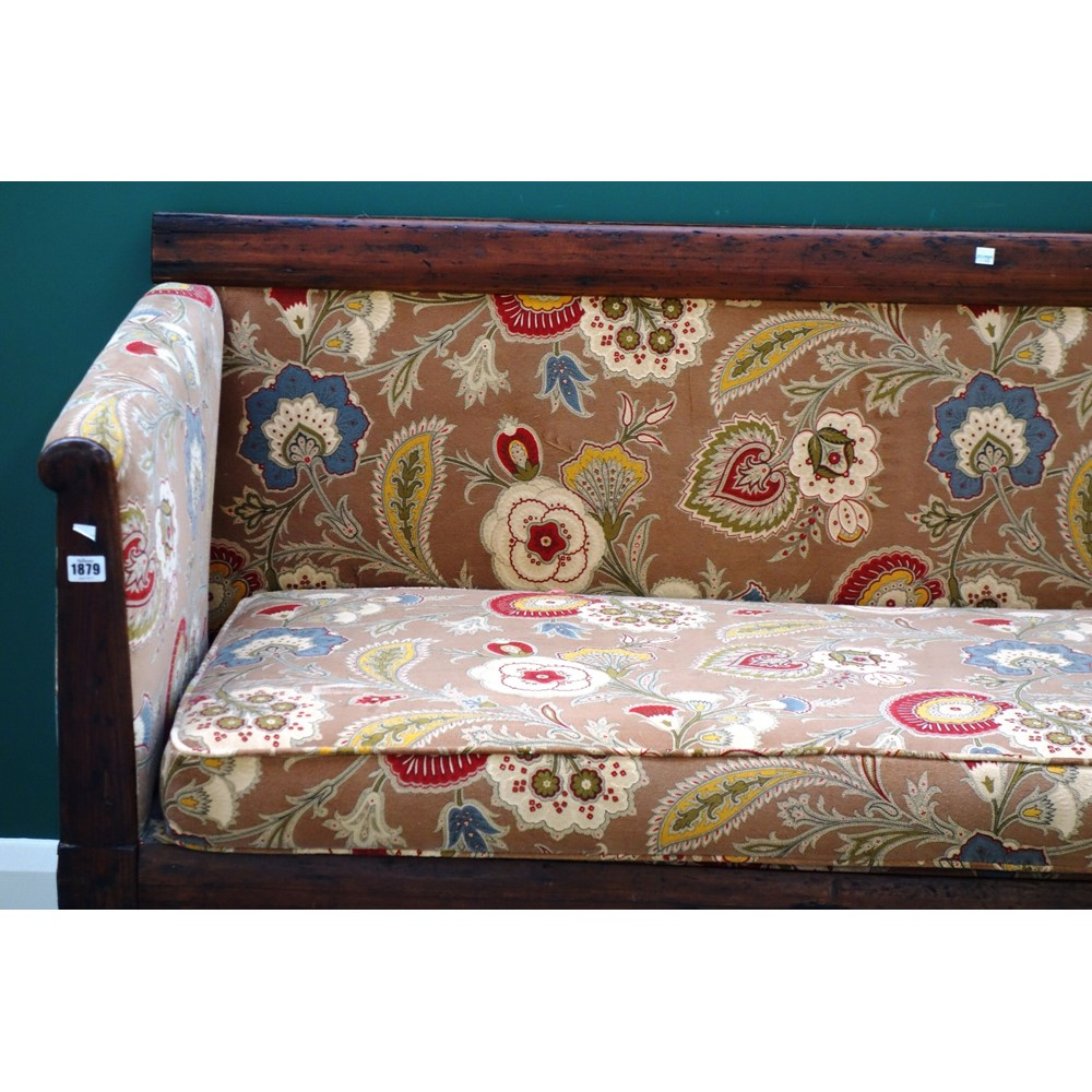 A mid-19th century pine and ash sofa on... Image