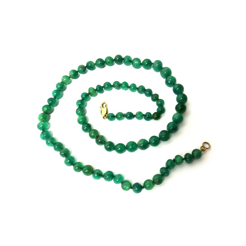 A single row necklace of graduated... Image