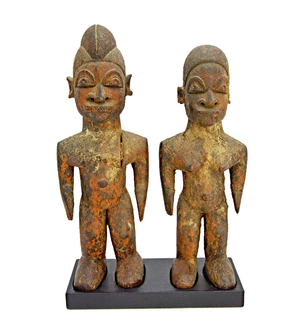 A pair of Lobi Bateba figures, Burkina... Image