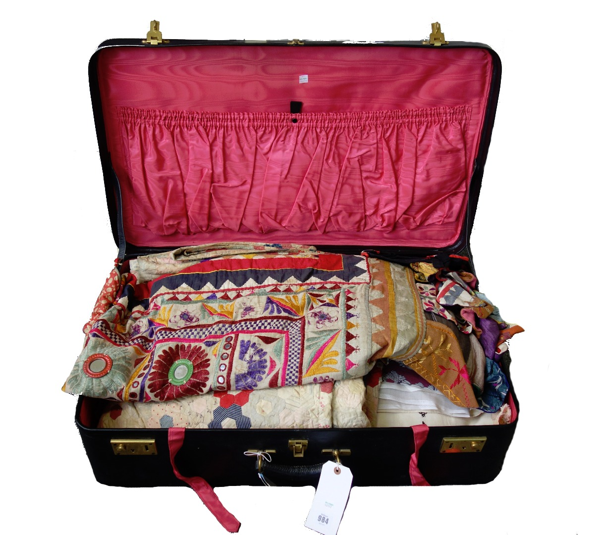 A Victorian patchwork quilt, a Rajasthan... Image