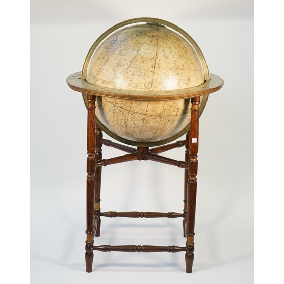 An English Celestial library globe J.Addison, circa 1820, the 18inch globe comprised of two sets... Image