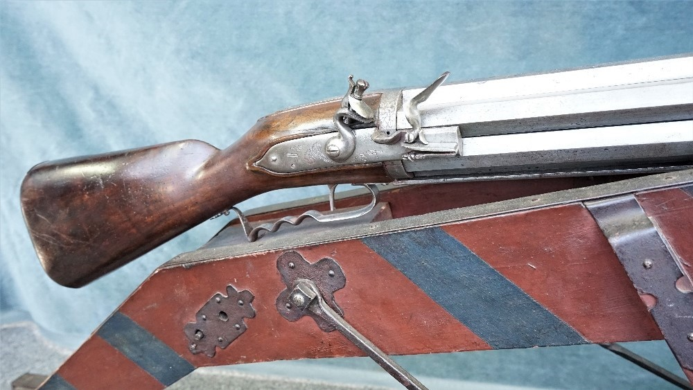 A very rare German seven-barrelled flintlock volley rifle by Valtin (Valentin) Muth, Zerbst,... Image