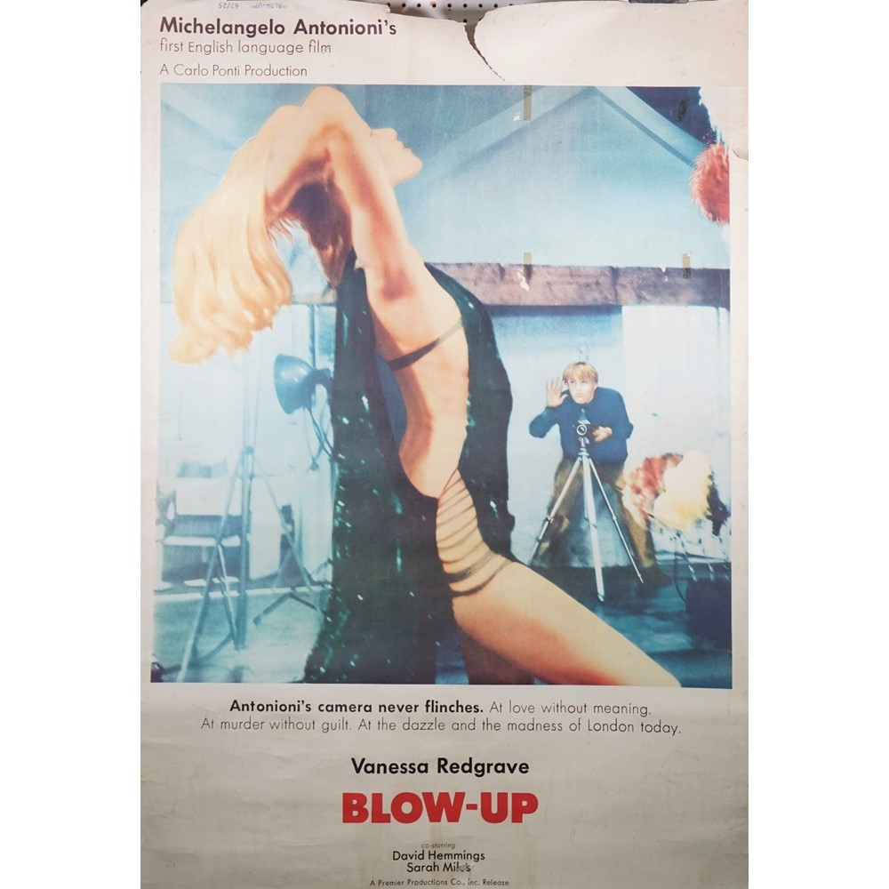 ADULT FILMS:  a pair of film posters, including 'Blow-Up' MGM / Premier Productions (1966)... Image
