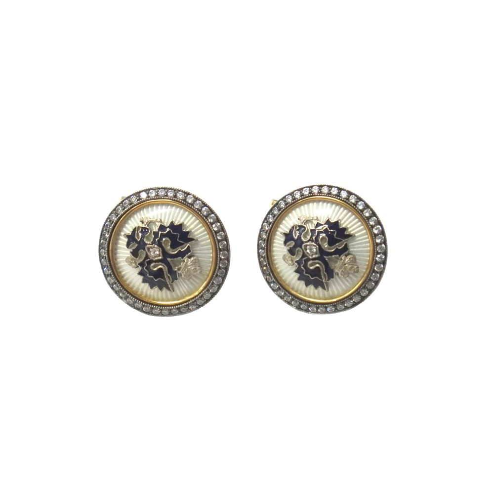 A pair of Russian gold mounted,... Image