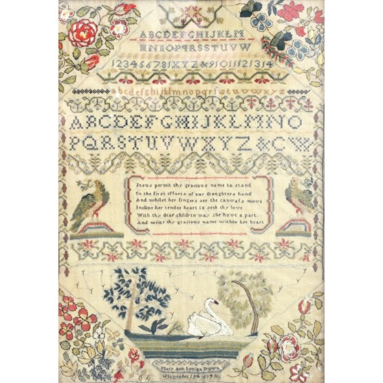 A Victorian alphabet sampler by 'Mary... Image