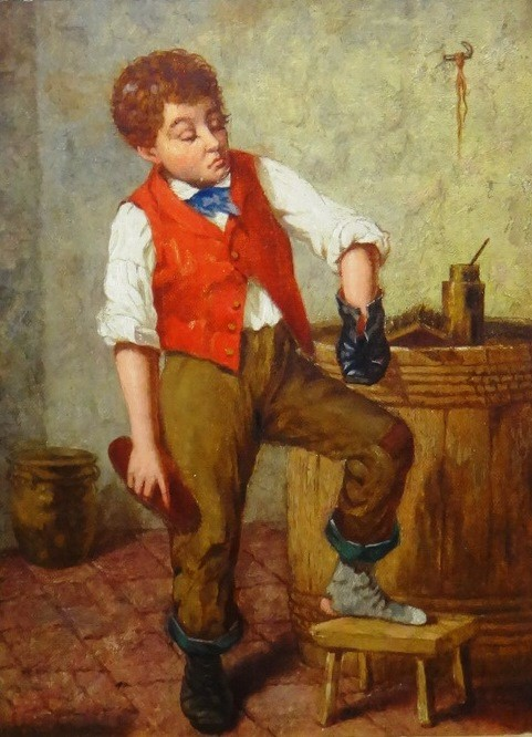 Continental School (19th century), A boy... Image