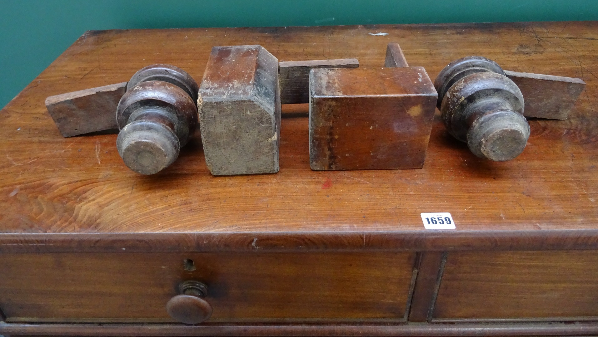 A Victorian mahogany chest with two... Image