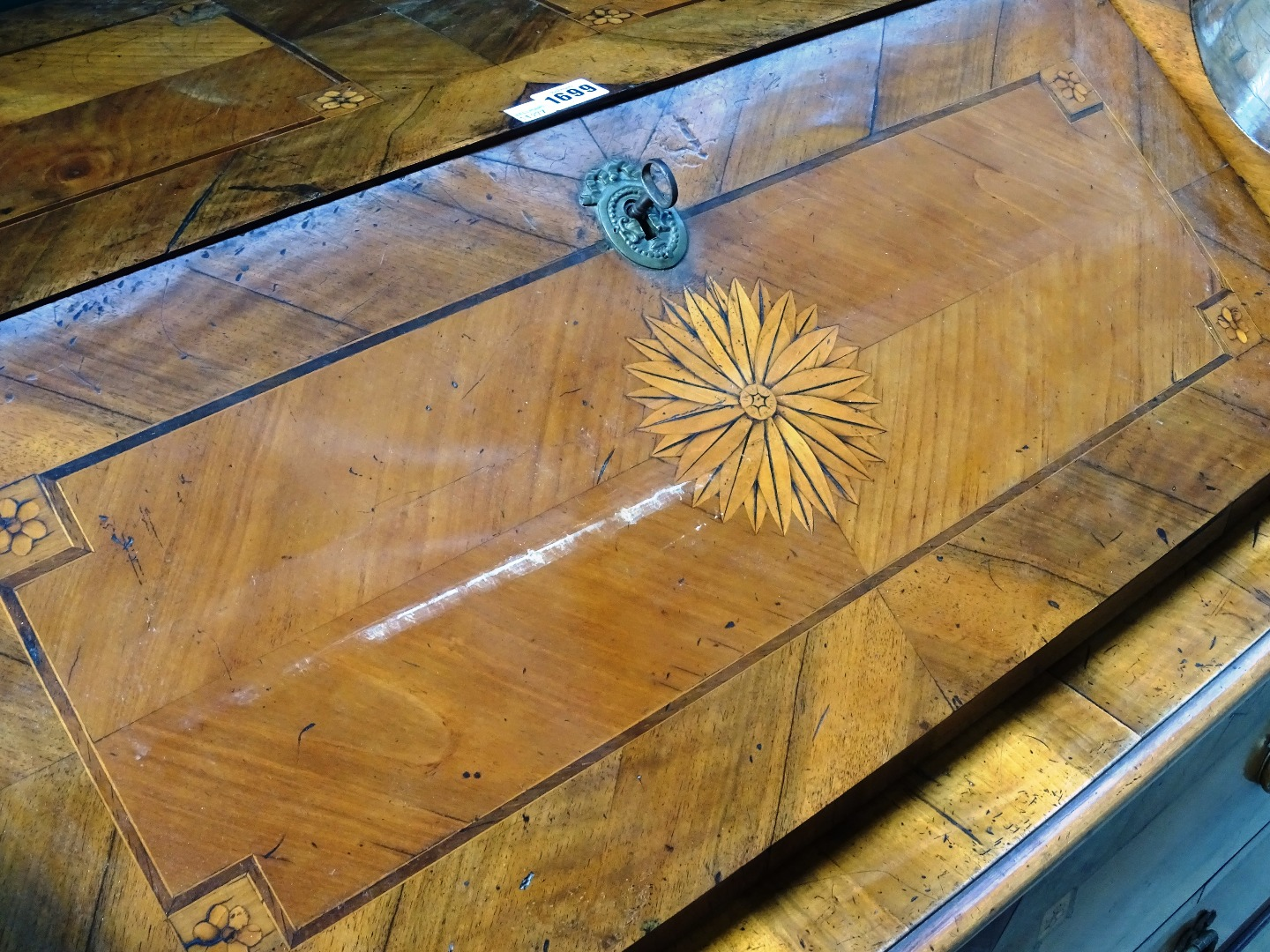 An 18th century South German marquetry... Image