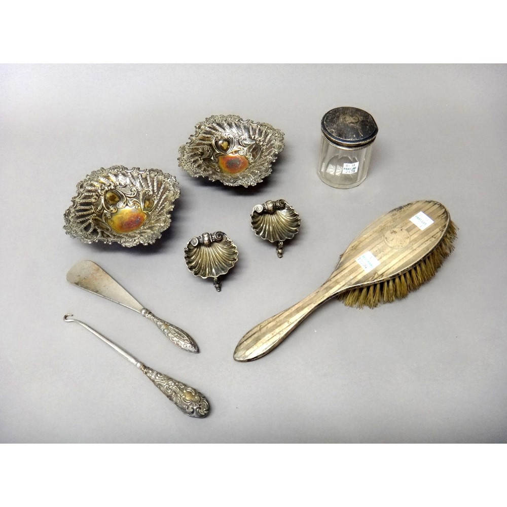 Silver and silver mounted wares,... Image