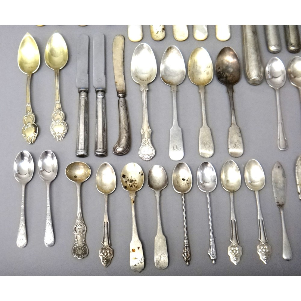 Silver flatware, comprising; an Old... Image
