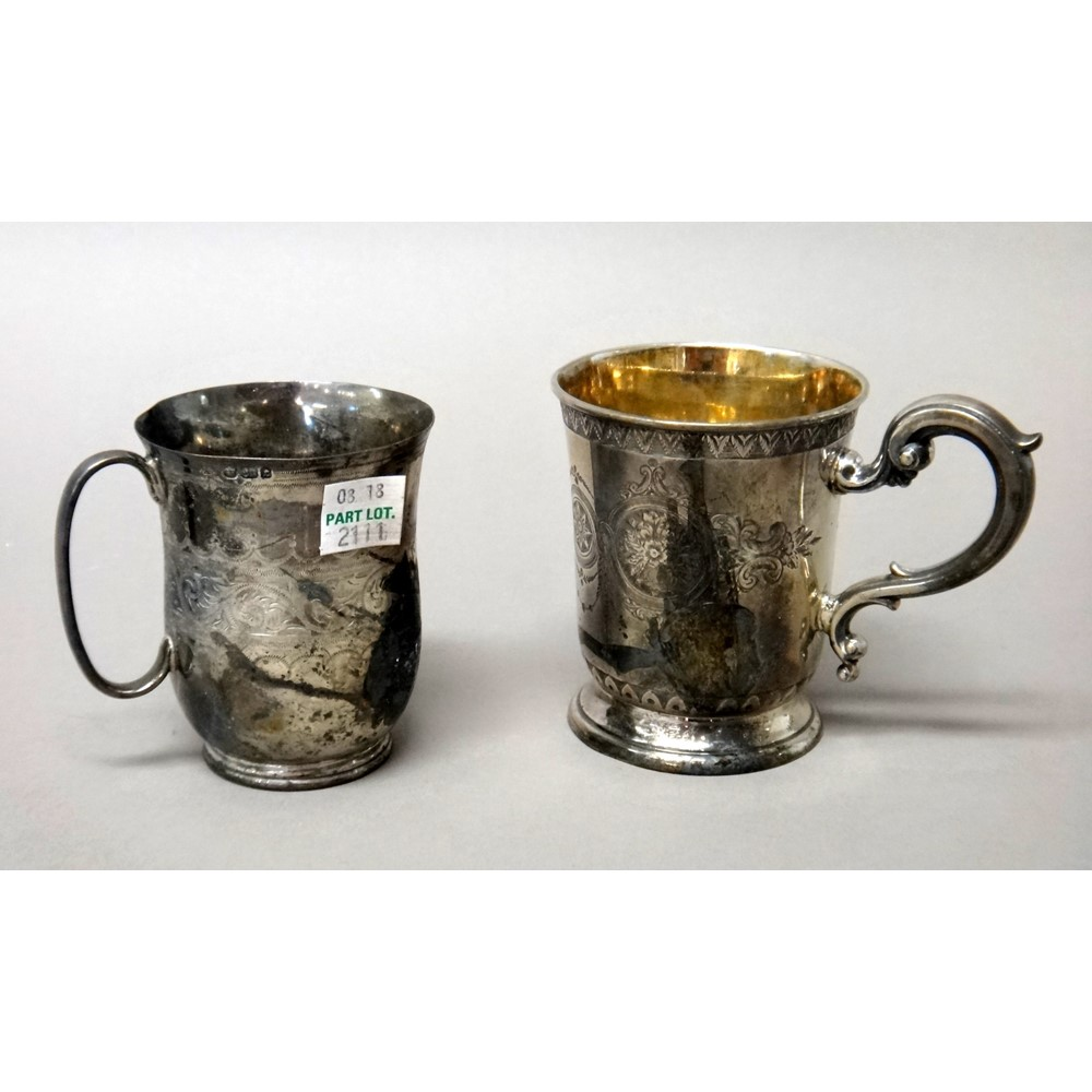 Silver, comprising; a Victorian... Image