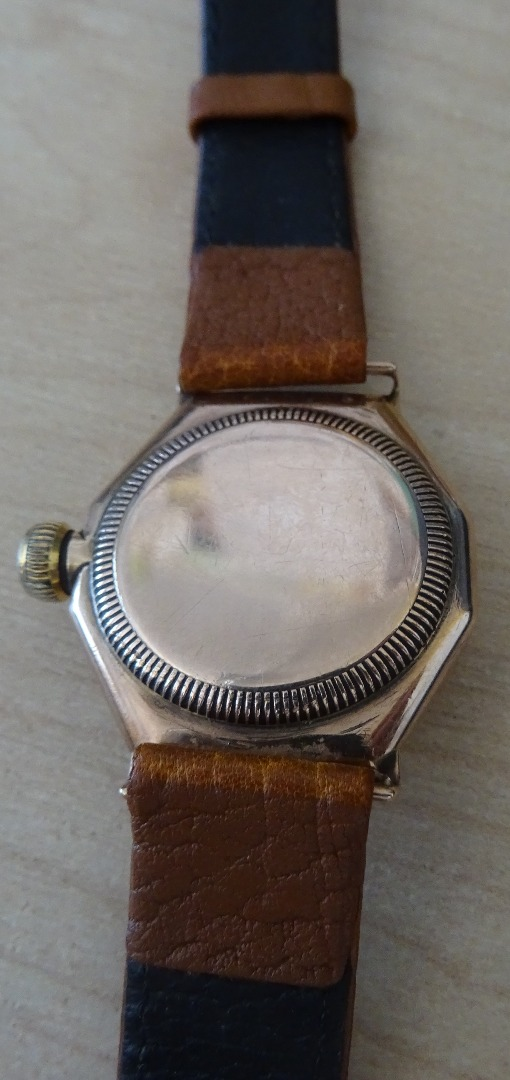 A Rolex Oyster 9ct gold octagonal cased... Image