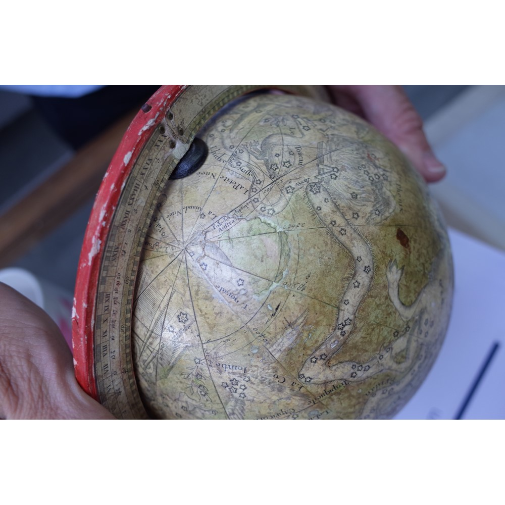 A matched pair of 7 inch celestial terrestrial globes by Charles Francois Delamarche, dated 1791... Image