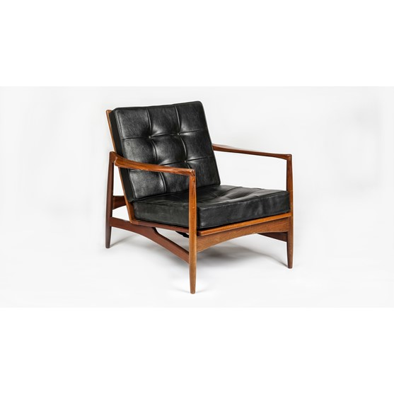 KOFOD LARSEN 1921-2003, a model 1b open armchair for G-PLAN circa 1965, 76cm wide x 74cm high. Image