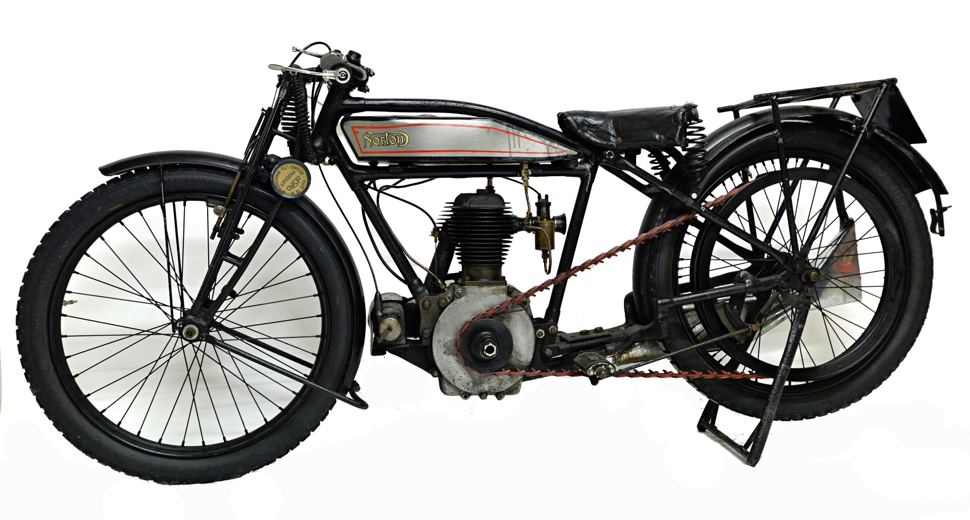 A 1926 Norton 16H, silver and black with... Image