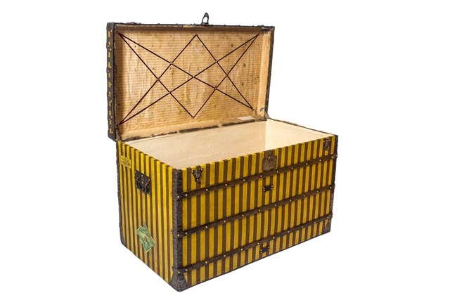A Louis Vuitton High Trunk in Rayée... Image