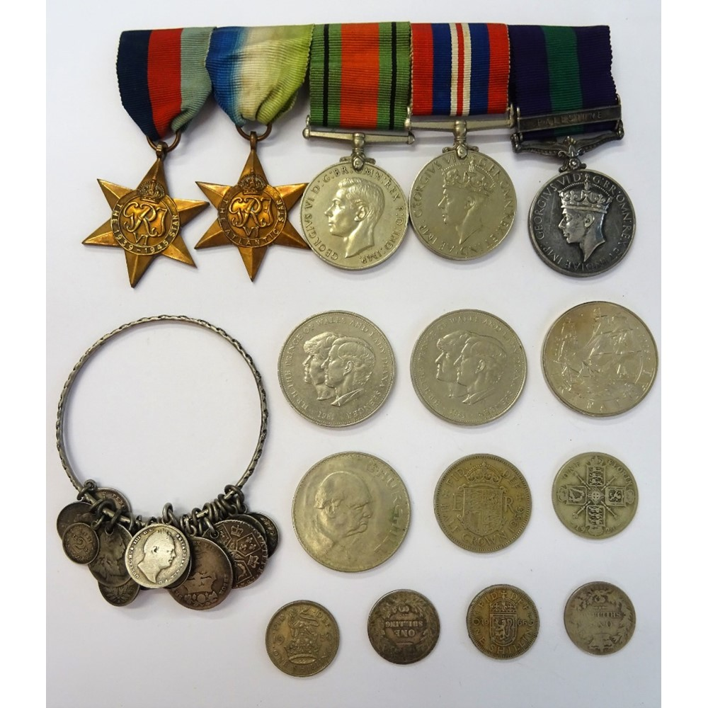 A group of five medals, comprising; The... Image