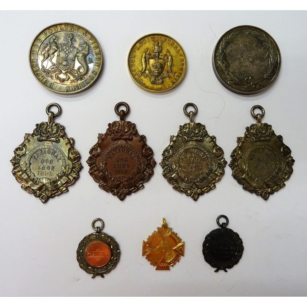 A group of ten medallions and awards,... Image