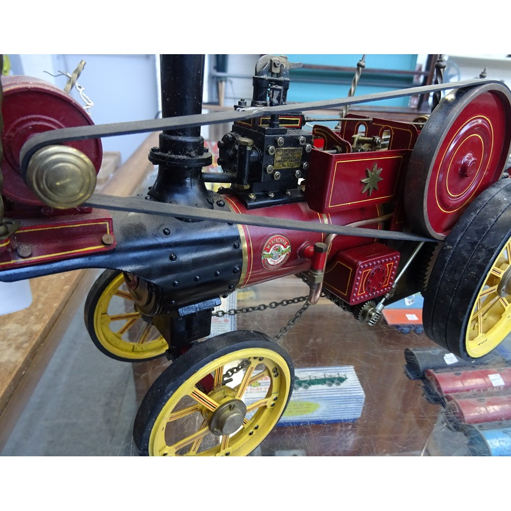 A William Allchin ¾ inch live steam traction engine, built by Michael Holden Ltd, No 55, maroon... Image