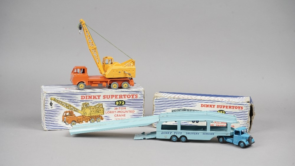 A Dinky Supertoys 982 Pullmore car transporter with loading ramp, boxed and a Dinky Supertoys 972... Image