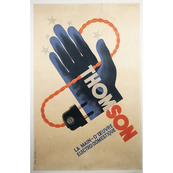 POSTER, ADOLPHE MOURON CASSANDRE  (1901 - 1968)  'THOMSON':  lithograph in colours, 1931, backed... Image