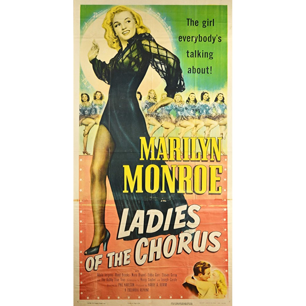 FILM POSTER:   'Ladies of the Chorus', Columbia Pictures, (1952) US. re-release three sheet film... Image