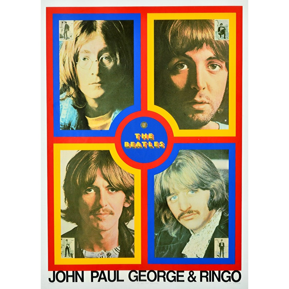 PETER BLAKE  (1932 - )  T IS FOR THE BEATLES, 1991:  a Limited Edition silkscreen print, numbered... Image