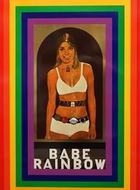 PETER BLAKE ( 1932 - )  BABE RAINBOW, 1968. a colour screenprint on pressed tin, depicting the... Image