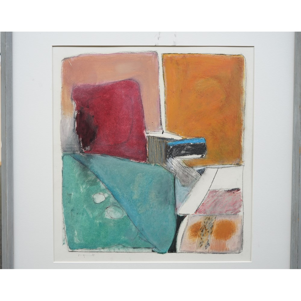 Roger Cecil (b.1942), Earth Forms II, oil and pastel on paper, signed, 49cm x 45cm. ARR Image