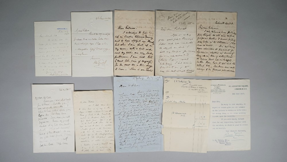 GEOLOGISTS - A collection of 21 autograph letters to Hugh Falconer, Joseph Prestwick and others,... Image