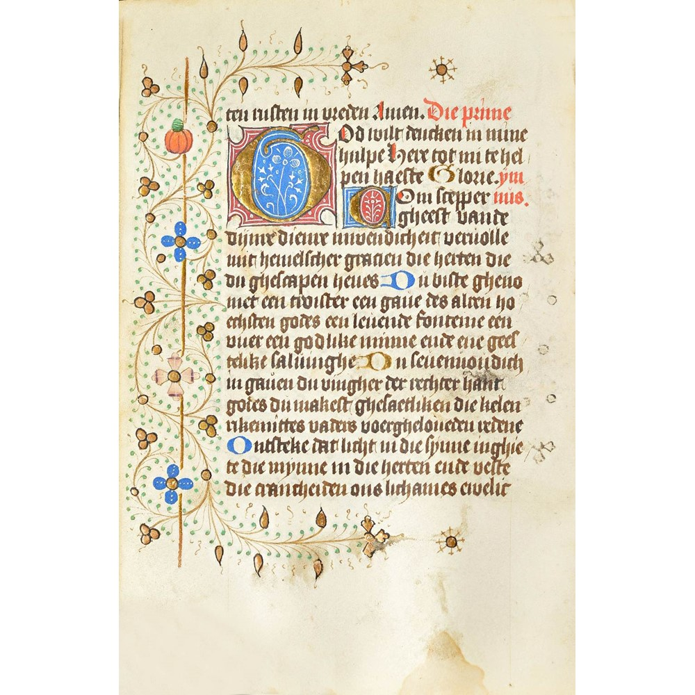 BOOK OF HOURS, in Dutch, illuminated manuscript on vellum [The Netherlands, 15th-century, 2... Image