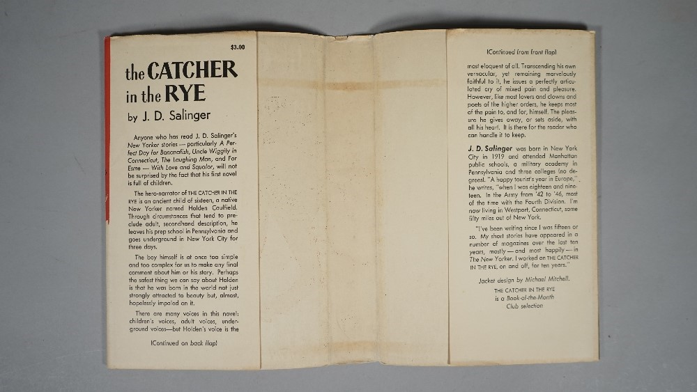 SALINGER, J. D. (1919-2010).  The Catcher in the Rye. Boston: Little, Brown and Company, [July]... Image