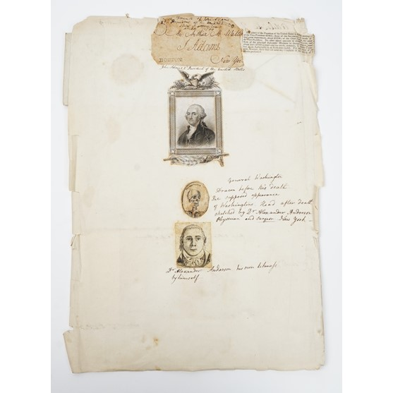 """ADAMS, John (1735-1826, second President of the United States). A """"free frank"""" signed and... Image"""