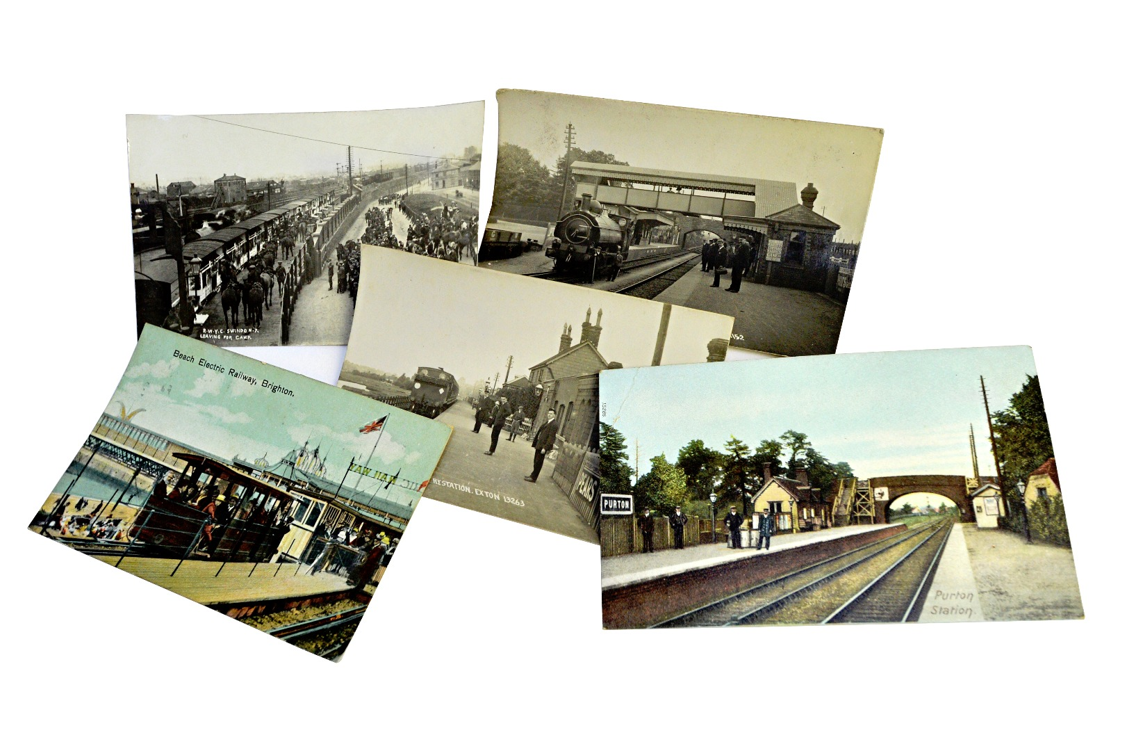 RAILWAY POSTCARDS - Stations; an... Image