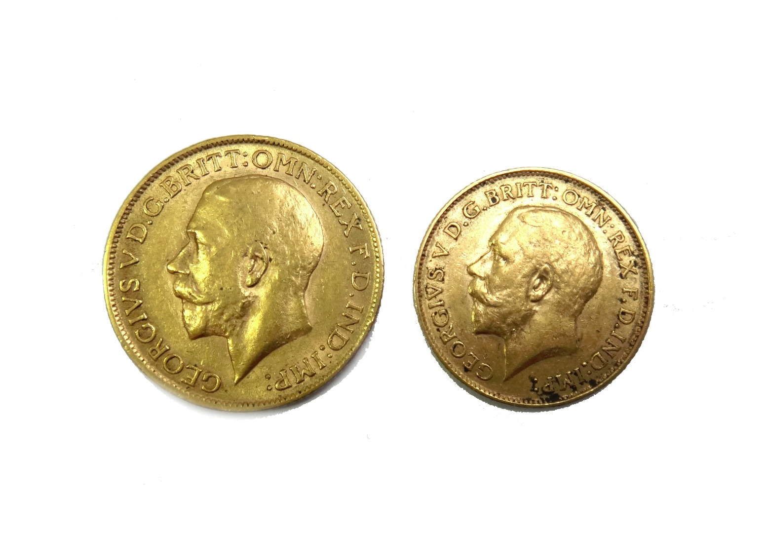 A George V sovereign 1911 and a George V... Image