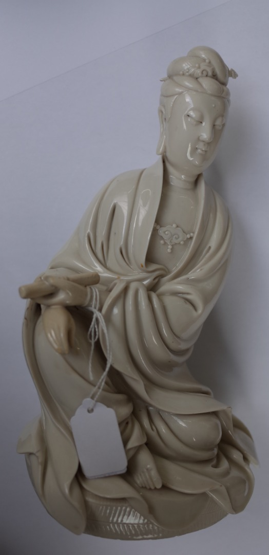 A Chinese blanc de chine figure of... Image