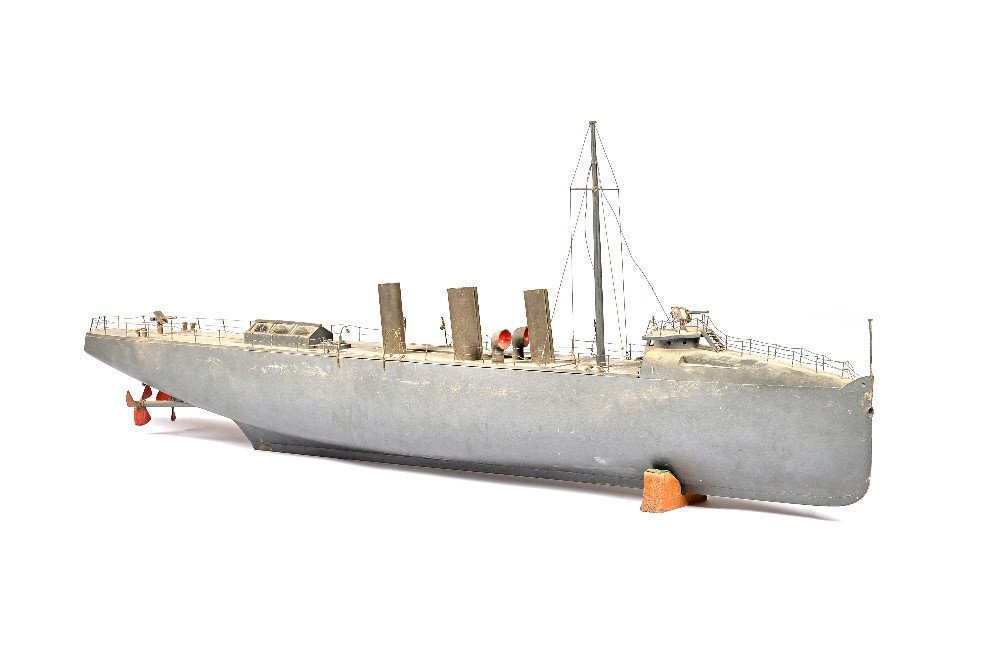 A model of a torpedo boat destroyer, English, circa 1905, scratch built and based on HMS Havock... Image