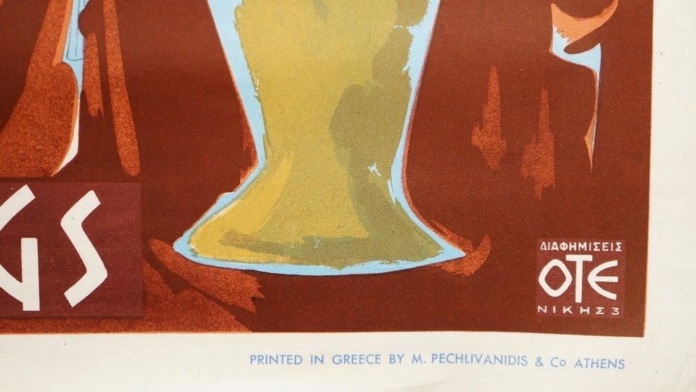 Designer Unknown, Greece Mineral springs, circa 1950s, tourism poster, lithograph in colours,... Image