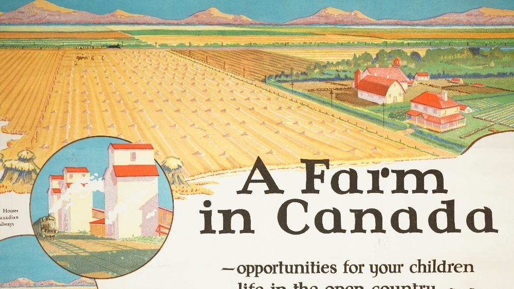 Frank Mann, Canadian National Railways, immigration poster, circa 1930, lithograph in colours,... Image