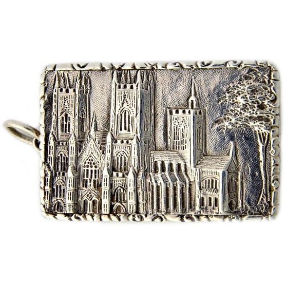 A Victorian silver 'castle top'... Image