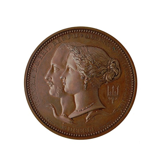 A Victorian large bronze medallion,... Image