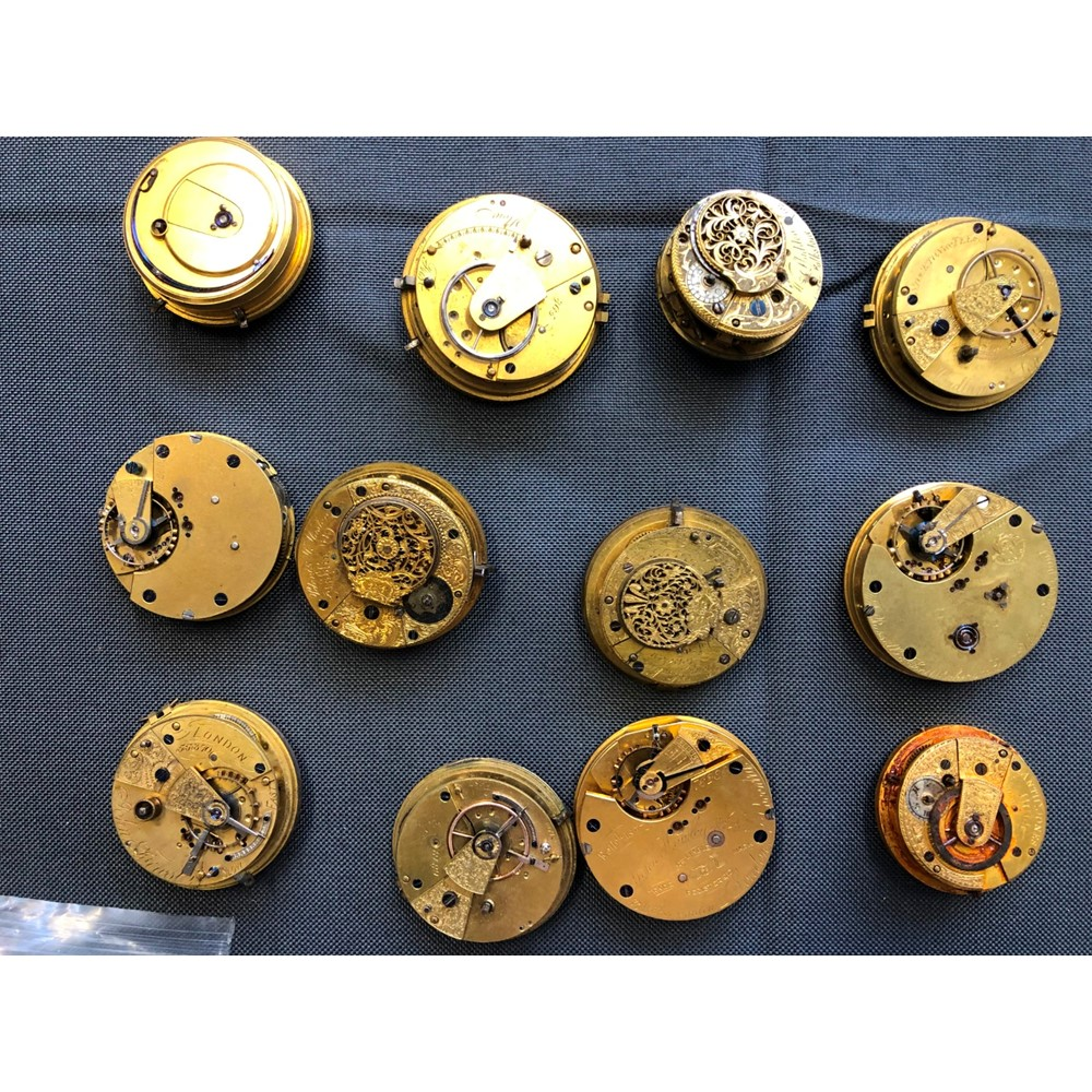 A quantity of 19th century pocket watch... Image