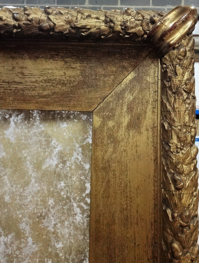 A late 19th century gilded oak and... Image