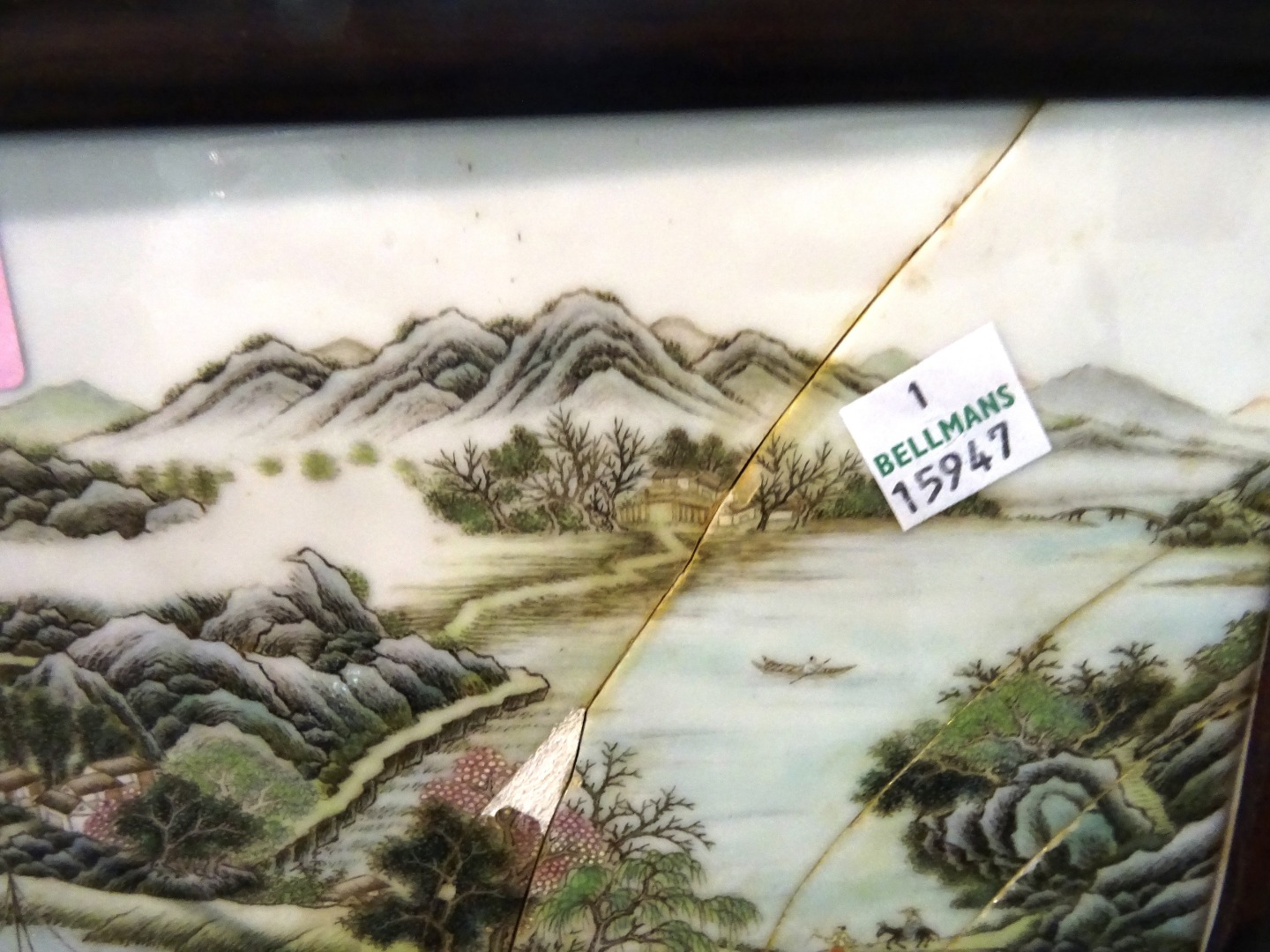 A 19th century Asian porcelain plaque in... Image