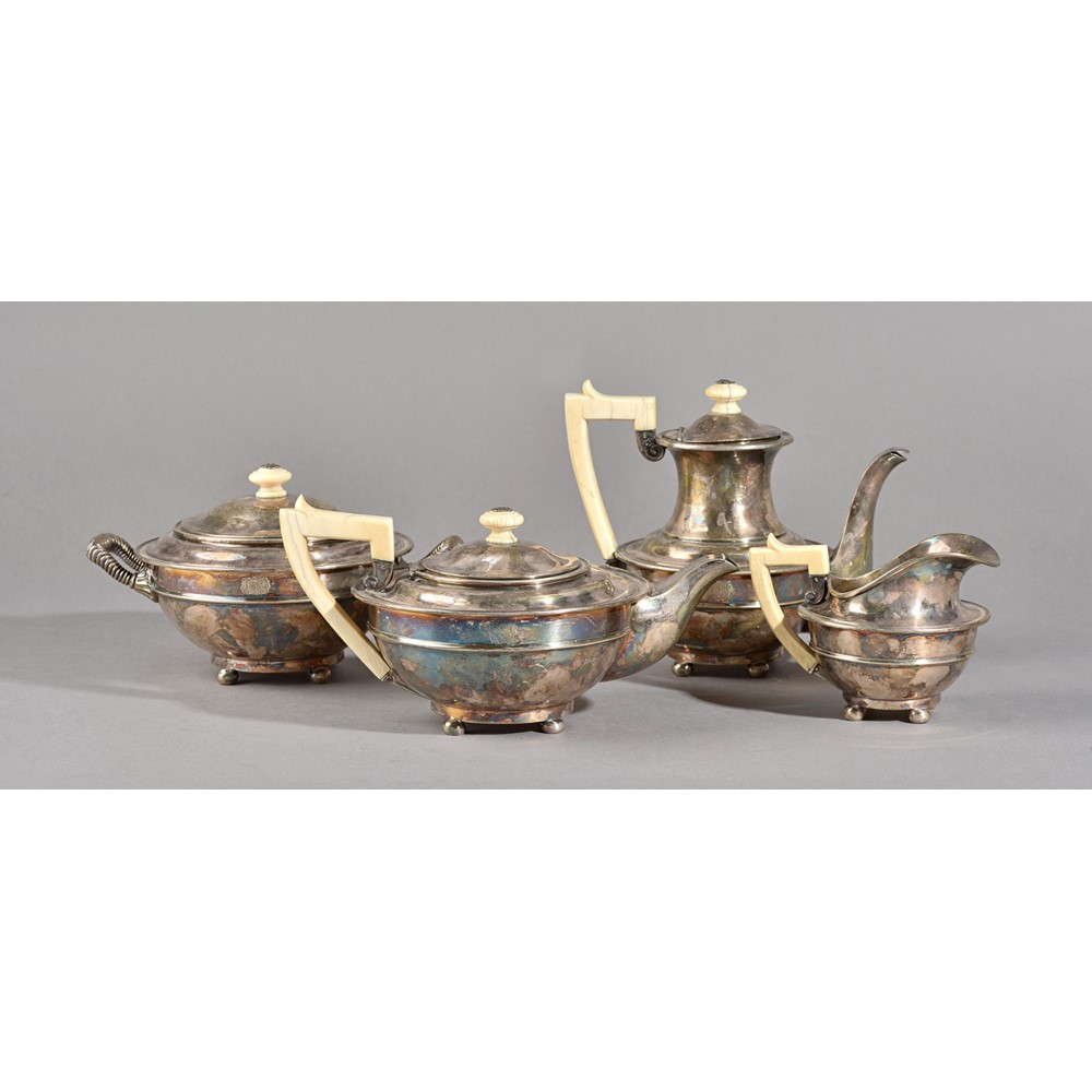 A French four piece tea set, comprising,... Image