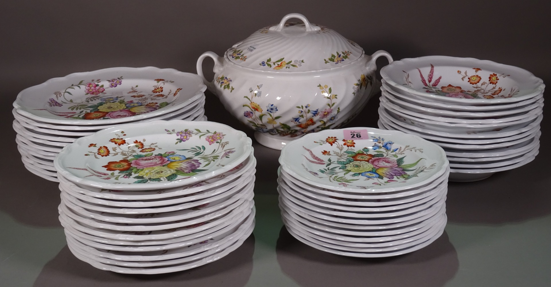 A quantity of Spode floral part dinner... Image
