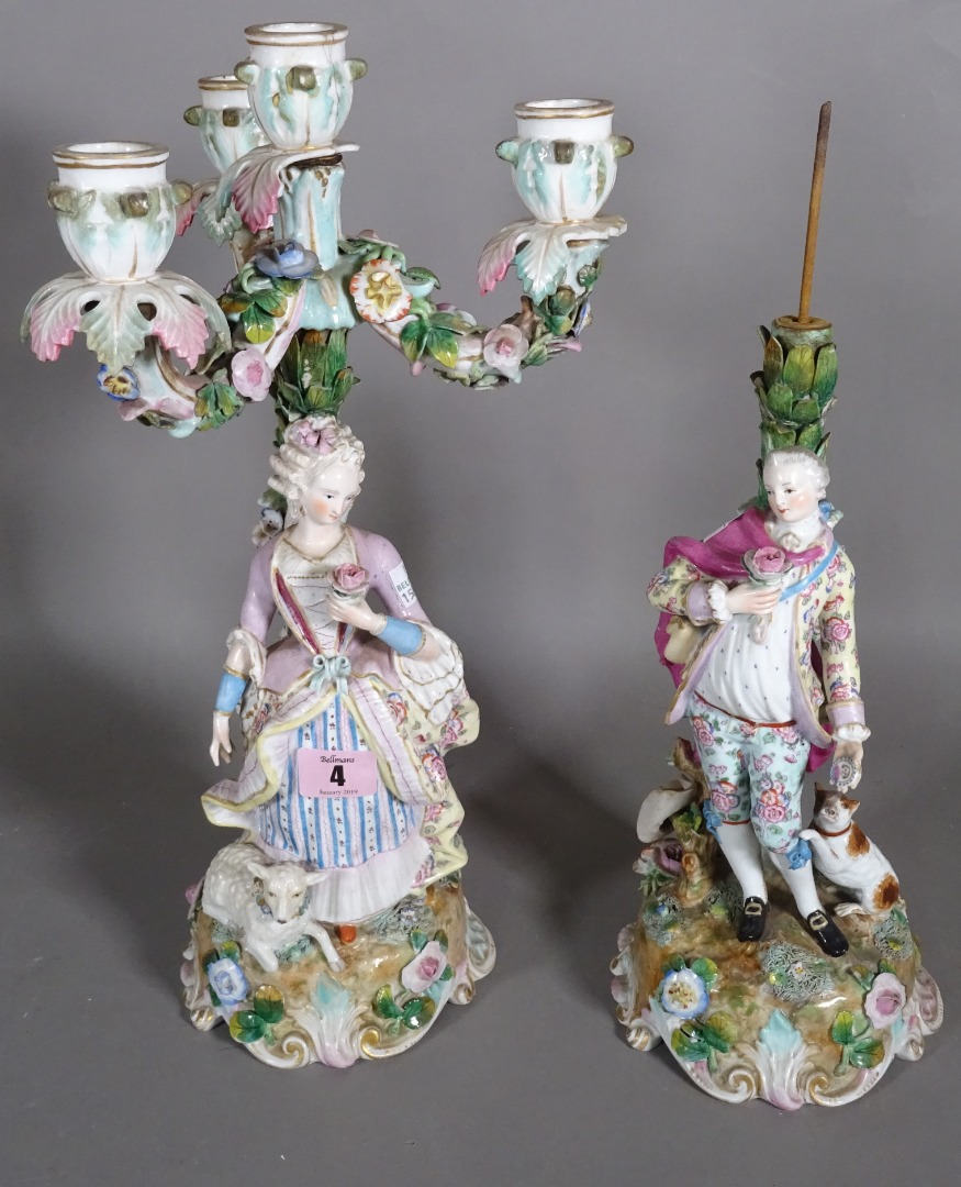 A pair of Continental figural porcelain... Image